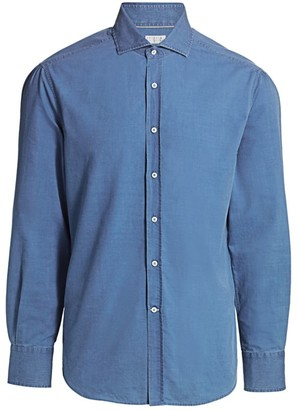 Brunello Cucinelli Slim-Fit Chambray Shirt