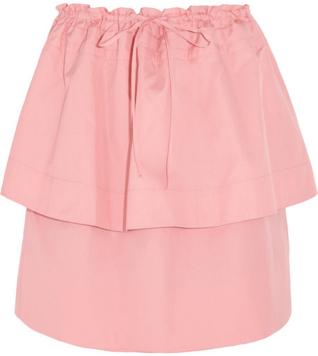 See by Chloe Tiered cotton-faille mini skirt