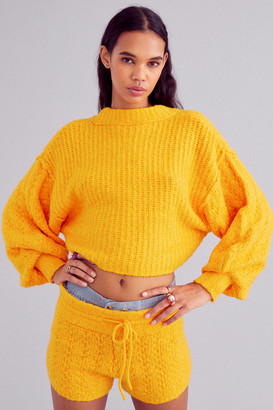 Out From Under Adeline Mock Neck Cropped Sweater