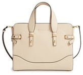 Marc Jacobs The Rivet Leather Satchel - Beige