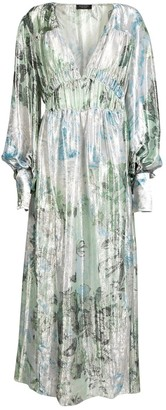 Burberry Green Silk Dresses