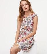 LOFT Floral Flutter Shirtdress
