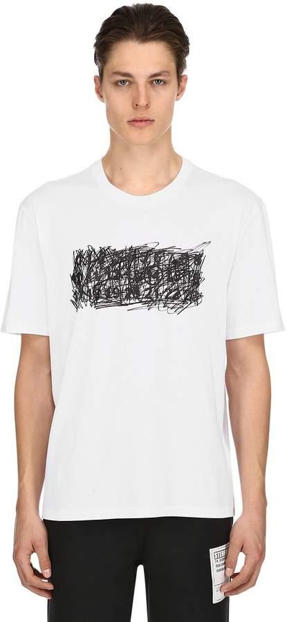Maison Margiela Scribble Logo Cotton Jersey T-Shirt
