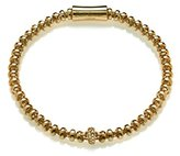 Babette Wasserman Women's 18ct Yellow Gold Plated Sterling Silver Round Clear Zircon Cocoon Small Bracelet of Length 19.5cm