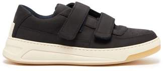 Acne Studios Perey Low Top Suede Trainers - Mens - Black White