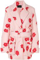 Simone Rocha floral print coat