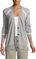 ATM Anthony Thomas Melillo Raglan-Sleeve Button-Down Schoolboy Cardigan