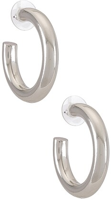 BaubleBar Dalilah Medium Tube Hoop Earrings