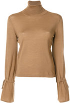 P.A.R.O.S.H. tied sleeve roll neck sweater