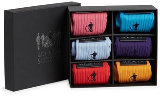 LONDON SOCK COMPANY Simply Colour Socks Gift Set (Pack of 6)