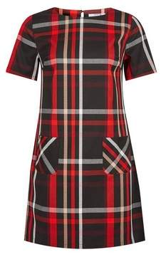 Dorothy Perkins Womens Petite Red Check Print Shift Dress, Red