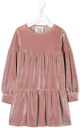 Douuod Kids empire-line gathered dress