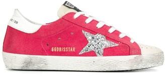Golden Goose Superstar glitter star suede sneakers