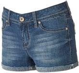 Hydraulic Juniors' Lola Frayed Curvy Shortie Shorts