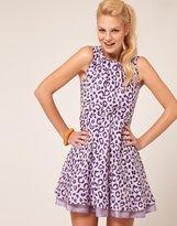 ASOS Skater Dress In Leopard Print