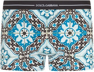 Dolce & Gabbana Maiolica-print cotton boxers