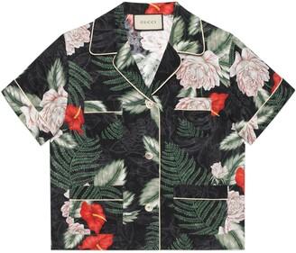 Gucci Hawaiian print silk shirt
