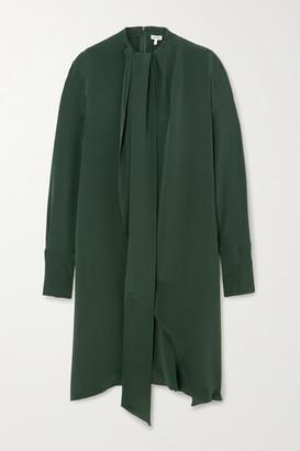 Loewe Draped Silk-crepe Midi Dress - Green