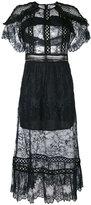 Self-Portrait lace-detail shift dress - women - Polyamide/Polyester - 10