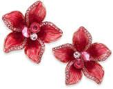 Kate Spade Gold-Tone Multi-Stone Pink Flower Stud Earrings