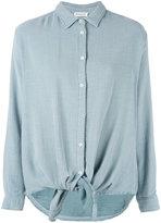 Masscob tie front shirt - women - Cotton/Viscose - XS