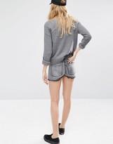 Dr. Denim Raw Hem Denim High Waist Hotpant Shorts