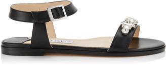 Jimmy Choo City Sandal Flat With Jewel