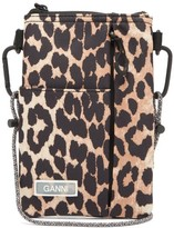 Ganni Leopard-print Technical Hiking Pouch - Womens - Leopard