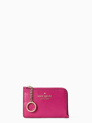 Kate Spade Staci Colorblock Medium L-Zip Card Holder