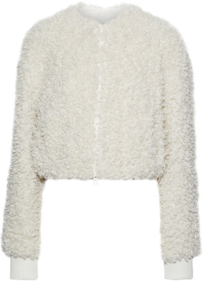 Tibi Cropped Faux Shearling Jacket