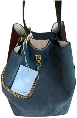 Givenchy Seau GV Bucket Blue Suede Handbags