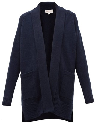 Derek Rose Nina Shawl-lapel Cashmere Cardigan - Womens - Navy