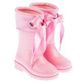 Igor IgorGirls Pink Campera Ribbon Tie Rain Boots