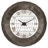 Lazy Susan World Planisphere Wall Clock Bronze ;