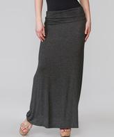 Magic Fit Charcoal Stretch Maxi Skirt