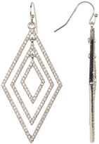 Jessica Simpson Multi-Layer Embellished Diamond Shaped Drop Earrings