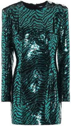 Balmain Sequined zebra dress
