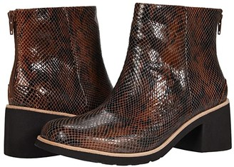 L'Amour des Pieds Qetina (Brown/Black Snake) Women's Shoes