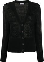 Brunello Cucinelli embellished V-neck cardigan