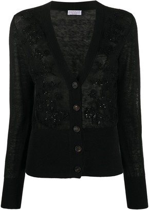 Brunello Cucinelli embellished V-neck cardigan