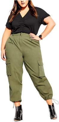 City Chic Trendy Plus Size Cotton Cargo Pants