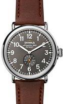Shinola 47mm Runwell Men's Watch, Cool Gray/Cognac