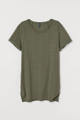 H&M Long T-shirt - Green