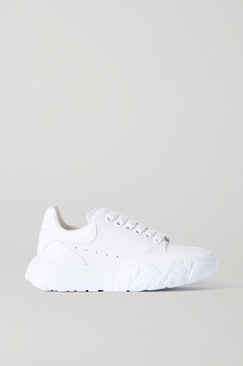 Alexander McQueen Leather Sneakers - White