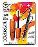 Cover Girl Lash Blast Volume Mascara and Perfect Point Plus Eyeliner, Very Black/Black Onyx, 0.026 Pound