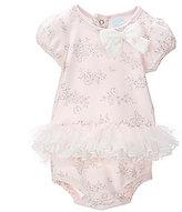 Edgehill Collection Baby Girls Newborn-6 Months Printed Tutu Bodysuit