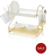 Swan Two-Tier S-Shape Dish Rack - Cream