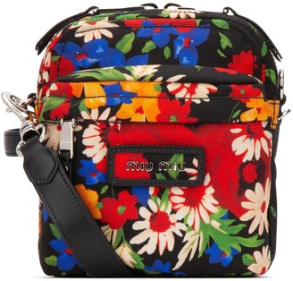 Miu Miu Floral Printed Shoulder Bag