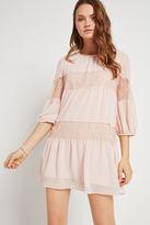 BCBGeneration Lace Inset Shift Dress - Gray