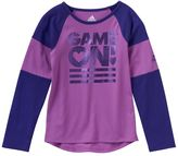"""adidas Girls 4-6x Game On!"""" Foil Graphic Tee"""